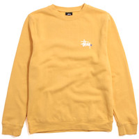 Basic Logo Crewneck Sweatshirt Faded Yellow
