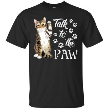 Talk to the paw UB™ - Cat Shirts Sweatshirt Hoodies