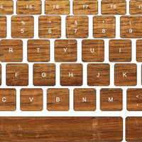 Plank Keyboard Decals,Macbook Decals, Keyboard Cover Decals, Laptop Keyboard Skin,Macbook Pro/Air Sticker, Apple Mac Decal