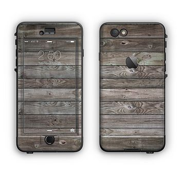 The Rough Wooden Planks V4 Apple iPhone 6 LifeProof Nuud Case Skin Set