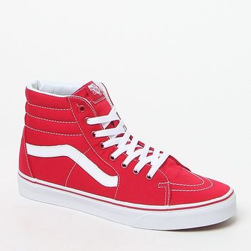 Vans Canvas Sk8-Hi Red Shoes at PacSun.com