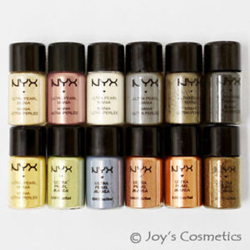 "12 NYX Loose Pearl Eyeshadow Pigment  ""Set A""  *Joy's Cosmetics*"