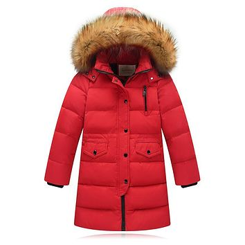 Children Winter Jacket Made of Goose Feather Winter for Girls Boys Parka Coat Child Duck Down Clothes Outwear Kids Down Jacket