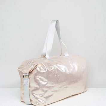 ASOS LIFESTYLE Metallic Slouchy Holdall at asos.com