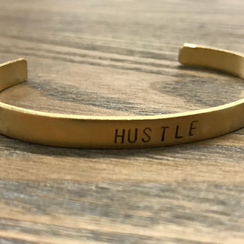 The Betty Collection: Hustle Cuff Bracelet in Brass