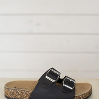Two Strap Buckle Sandal