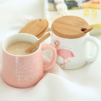 Cute Pink Flamingo Coffee Ceramic Mug