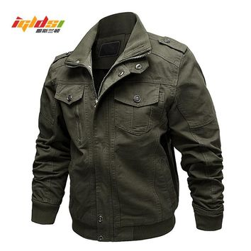 Air Force Pilot Military Jacket Men Spring Cargo Tactical Bomber Jacket Male Casual Zipper Flight Cotton Coat Jacket Size M-6XL