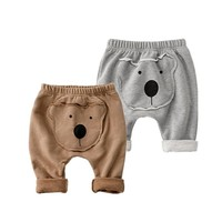Bear style baby clothing for boys pants ,  casual Haren pants baby boy clothes unisex infant costume for  toddler girl clothing