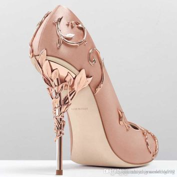 4303e30a055 2017 pink blue satin bridal wedding shoes eden pumps high heels