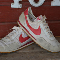 Vintage 1980s Nike Made In Korea Waffle Bottom Running Shoes Size 12