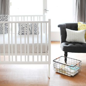 New Arrivals Safari Fitted Crib Sheet One Size (Grey)