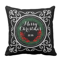 """Merry Christmas"" Holiday Pillow"