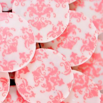 Designer PINK DAMASK Chocolate Covered Oreos -Girl Party Wedding Shower Birthday Gift Favor