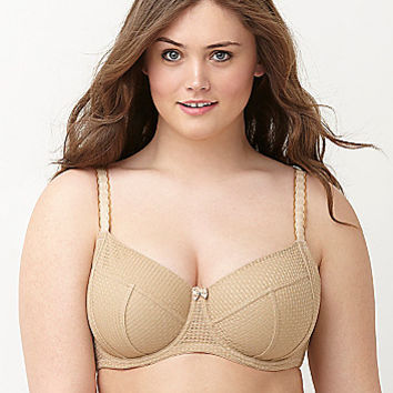 Zoned minimizer unlined full coverage bra
