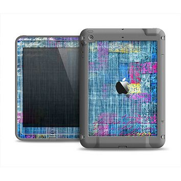 The Sketched Blue Word Surface Apple iPad Mini LifeProof Fre Case Skin Set