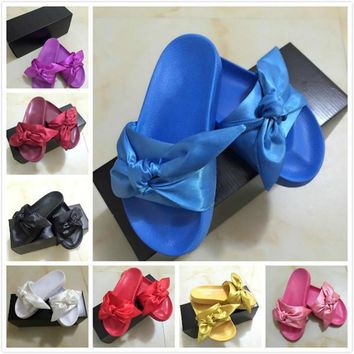 2017 Hot New Color Leadcat Fenty Rihanna Shoes Women Fashion Slippers Indoor Sandals Girls Scuffs Size 35 41