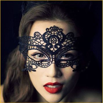 1 pcs Black mask for Christmas Women Sexy fun Party Mask Lace Fabric Masquerade Mask Holloween Fun Eye Mask Divertida