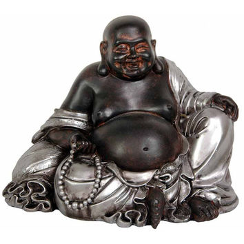 Oriental Furniture Sitting Lucky Buddha Figurine