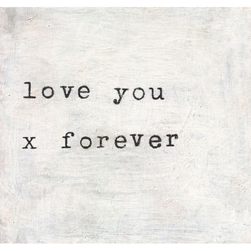 Sugarboo Art Print: Love You x Forever