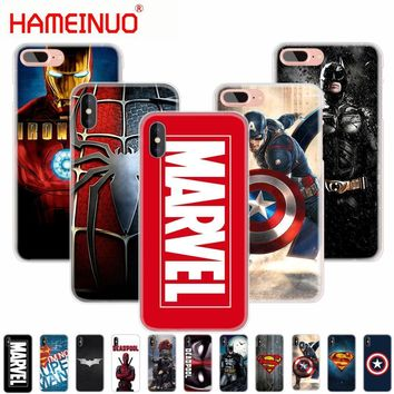 Deadpool Dead pool Taco HAMEINUO MARVEL spiderman iron man super captain  batman phone Cover case for iphone X 8 7 6 6s 4 4s 5 5s SE 5c plus 10 AT_70_6