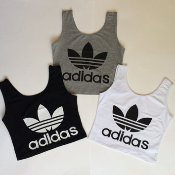adidas reworked crop top vest cami k