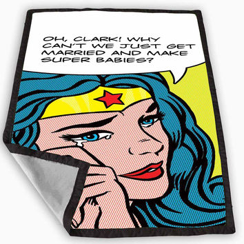 Wonder Woman Crying Blanket for Kids Blanket, Fleece Blanket Cute and Awesome Blanket for your bedding, Blanket fleece *