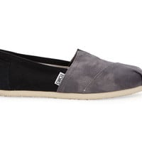 TOMS Black Washed Canvas Women's Classics Black