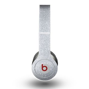 The Silver Sparkly Glitter Ultra Metallic Skin for the Beats by Dre Original Solo-Solo HD Headphones