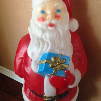 Vintage  light up blow mold Santa Claus