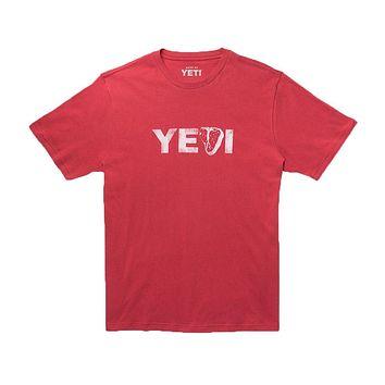 Steak's On T-Shirt in Brick Red by YETI