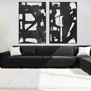 Abstract painting large minimal wall art canvas handmade Original Acrylic Painting black and white extra large wall decor contemporary art