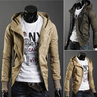 Slim Fit Men's Fashion Jacket With Hood