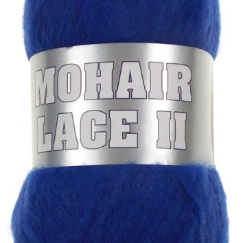 Filati Europa Mohair Lace II Yarn Lot 4 Skeins 12-22 480yds Royal Blue Wool