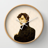 Sherlock Lives Wall Clock by MadTee
