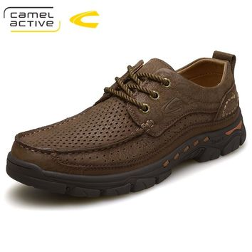 Camel Active Hiking Boot 2018 Men Hiking Shoes Genuine Leather Cow Suede Waterproof Outdoor Trekking Shoes Rubber Sport Sneakers