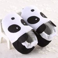 New Girls Infant Newborn Toddlers Baby shoes Panda black & White size 6-12 month