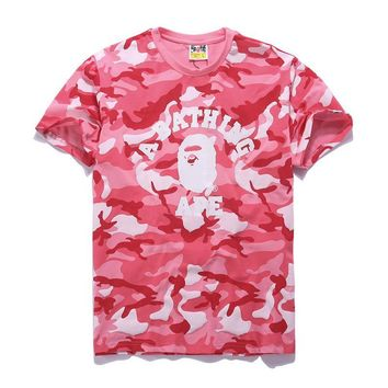 Cotton Summer Bape Print Short Sleeve T-shirts [211452592140]