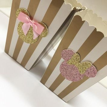 Lowest Price 100pcs/lot Gold Sweet Love Paper Candy Pop Corn Box Wedding Favor Boxes Party Supplies Bags