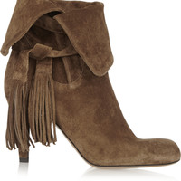 Chloé - Tassel-trimmed suede ankle boots