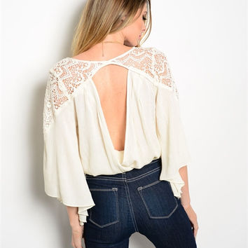Vintage Lace Boho Crochet Top