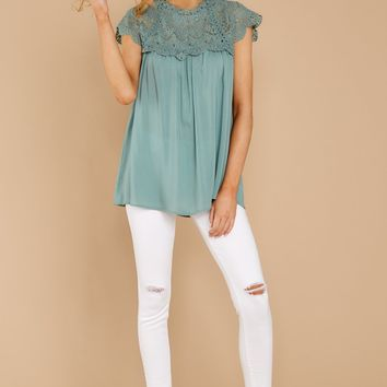 Remember This Seafoam Top