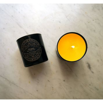 Morgana - Rose, Vetiver & Musk Scented Candle in 12 oz Glass Tumbler