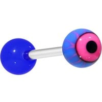 """14 Gauge Hot Pink Astro Eye Barbell Tongue Ring 5/8"""""""