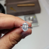 2.08 Carat Collection D Color  SI1 Oval Diamond 10.91*7.40*3.29 +  Ring 14K Anniversary Bridal Certified Christmas Holiday Sale Pricing!