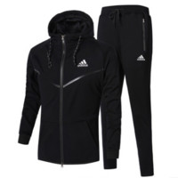 Unisex Adidas Casual Winter Men Jogging Sports Long Sleeve Jacket Sportswear Set [103847657484]