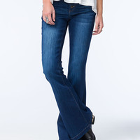 Celebrity Pink Womens Button Flare Jeans Denim  In Sizes