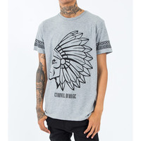 Criminal Damage - Tomahawk Tee - Grey/Black