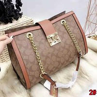 COACH High Quality New Popular Women Shopping Bag Leather Handbag Tote Shoulder Bag 2#