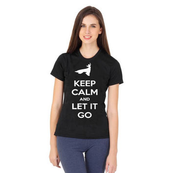 keep calm and let it go disney frozen women tshirt ----- size S,M,L,XL,2L,3XL